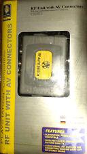 Playstation 1 & 2 AV RF Einheit mit 3RCA Kabel HF Modulator Anschluss Video NEU