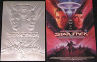 1.1 oz STAR TREK III ~ SEARCH FOR SPOCK ~ SILVER BAR COA ~ CASE & 1992 POSTER