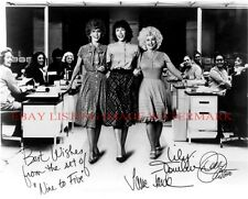 9 TO 5 CAST AUTOGRAPHED 8x10 RP PHOTO DOLLY PARTON TOMLIN FONDA NINE TO FIVE
