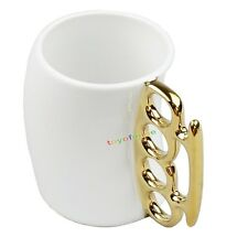 Fisticup Brass Knuckle Duster Handle Cup Fist Gift Cup Coffee Milk Ceramic Mug