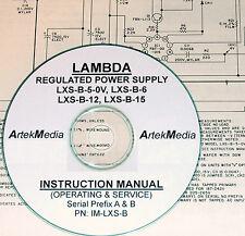 Lambda Lxs-B-5-Ov, Lxs-B-6, Lxs-B-12, Lxs-B-15 Operating & Service Manual