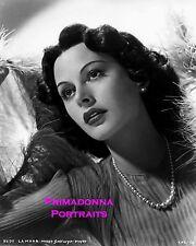 HEDY LAMARR 8X10 Lab Photo AMAZING '40s Uplifting Graceful Posed Beauty Portrait