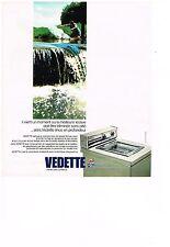PUBLICITE  1975   VEDETTE lave linge machine à laver mérite votre confiance