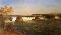 Oil painting Albert Bierstadt - Falls of Saint Anthony stunning landscape canvas