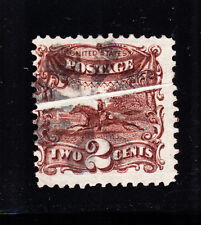 Us 113 2c Post Horse & Rider Used w/ Pre-Printed Paper Fold Efo