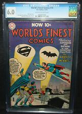 World's Finest Comics #74 - Superman and Batman - CGC Grade 6.0 - 1955