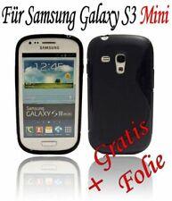 HANDY ZUBEHÖR Samsung Galaxy S3 Mini TASCHE SCHUTZHÜLLE SOFT CASE ///Schwarz