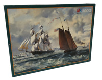 MB Jigsaw Puzzle 3000 Pieces The Golden West Marine Ocean Sea Ships Roy Cross