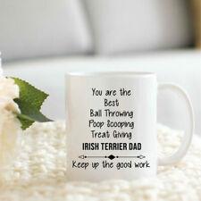 Irish Terrier Dad Gifts Funny Irish Terrier Dad Cup Christmas Present For Irish