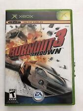 Burnout 3: Takedown (Microsoft Xbox, 2004) Complete