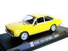 1/43 - IXO - NEUF EN BOITE VITRINE :  FIAT 124 COUPE SPORT JAUNE - 1971