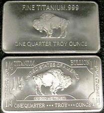 1/4 oz 999 Titan Titanium Titanbarren American Buffalo Medaillen Barren