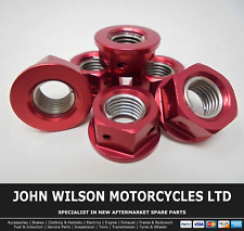 Honda VTR 1000 SP2 2003 Red Aluminium Race Sprocket Nuts