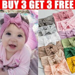 Baby Rabbit Headband Elastic Bowknot Hair Band Girls Bow-knot Newborn Bow Soft