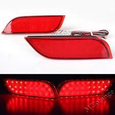 2X Pair LED Rear Bumper Reflector Brake Lights For Subaru Exiga Levorg WRX STI