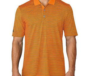 Adidas ClimaCool 2-Color Pencil Stripe Polo (M) BC1202 Orange