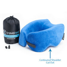 New, Repackaged - Ultimate Memory Foam Travel Pillow / Neck Pillow - Blue