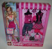 Barbie Fashion Doll W/ 2 Sets of Clothes & Accessories Mattel 2009 NIB