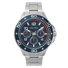 Nautica Pier 25 Blue Multifunction Dial Stainless Steel Mens Watch NAPP25006