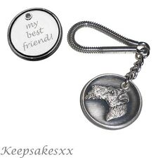Wire Fox Terrier - Dog Tag UK Disc KEYRING  Key Chain + PERSONALISED ENGRAVING