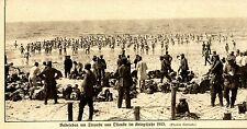 Ostenda 1915: VITA BALNEARE soldati tedeschi sulla spiaggia * ww1