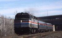AMTRAK Railroad Locomotive 212 Passenger Train HARTFORD CT Original Photo Slide