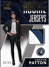 2017-18 Donruss Rookie Jerseys Prime #31 Justin Patton RC Jersey PATCH 1/25