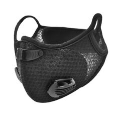 Reusable Activated Carbon Face Shield with Filter Mouth Covers Dustproof Scarf