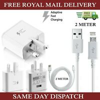 Samsung Fast Charger Plug& 2M Micro USB Data Cable For Galaxy Phones Lot