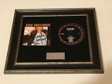 SIGNED/AUTOGRAPHED THE VACCINES - COMBAT SPORTS FRAMED CD PRESENTATION.