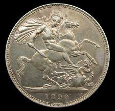 VICTORIA 1890 SILVER JUBILEE HEAD CROWN - GVF