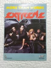 Extreme More Than Words Original Music Song Sheet Edition 1990 5pages