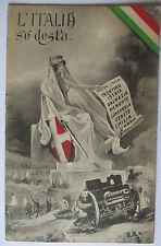 Italien, L`Italia se desta, Trentino, Istria, Lombardia, Feldpost 1918 (28232)
