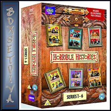 HORRIBLE HISTORIES - COMPLETE SERIES 1 2 3 4 5 & 6 ***BRAND NEW DVD BOXSET***