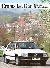 Prospekt / Brochure Fiat Croma i.e. Kat 05/1987