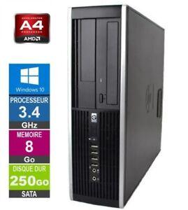 PC HP Pro 6305 SFF  AMD A4-5300B 3.40GHz 8Go DDR3 / 250Go Windows 10 Pro