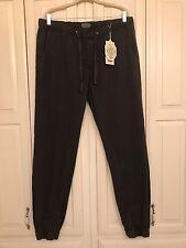 Men's Matchstick 36x32 Elastic Waist & Ankle Pants Gray Nwt