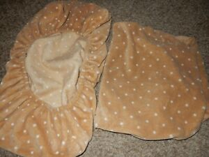 3G Set of 3 CIRCO Polka Dot Minky Plush Changing Table Pad Fitted Sheet Covers