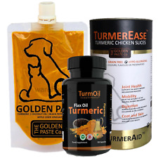 Golden Paste or Capsule, Turmerease Tumeric Chicken Slices Tumeric / Flax Oil