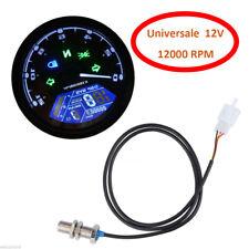 Universale LCD Digitale Moto Contachilometri Tachimetro 1/2/4 Cilindri Contagiri