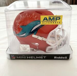MIAMI DOLPHINS UNSIGNED RIDDELL ALTERNATIVE AMP SPEED MINI HELMET NEW IN BOX