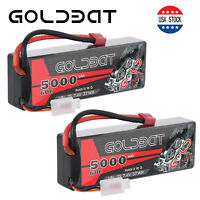 2pcs 5000mAh 60C 7.4V LiPo Battery 2S Deans Plug Hardcase for RC Car Truck Boat