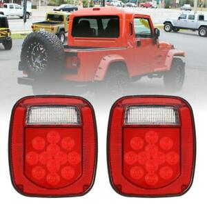 2x LED Tail Lights Brake Reverse Turn Signal for Jeep Wrangler TJ CJ YJ JK 76-06