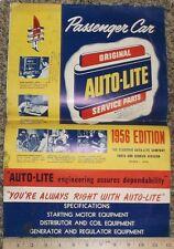 1956 Autolite Specification Chart Parts Sheet 1940s - 1956