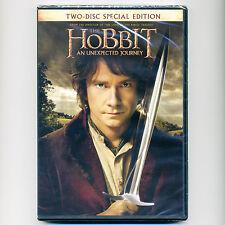 HOBBIT Unexpected Journey 2012 PG-13 fantasy adventure movie, new 2-disc DVD