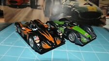 SCALEXTRIC 2 x MG LOLA CARS With Lights !