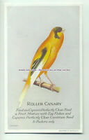 an0264 - Roller Canary - Feed on Capern's Condition Seed - Plain Back Postcard