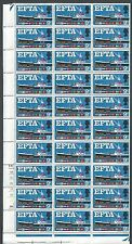 1967 EFTA 9d Phos Cylinder 1A...No Dot Half Sheet With Variety - MNH