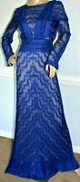 Missoni Orange Label Metallic Zigzag Open Back Long Maxi Dress Gown US 2 / IT 38