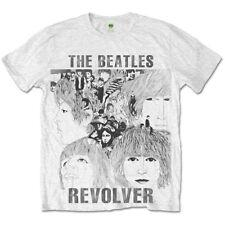The Beatles Revolver Sublimation Mens White T-shirt Medium